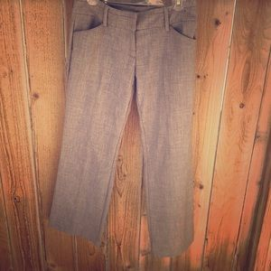 Gray boot cut dress slacks-Petite